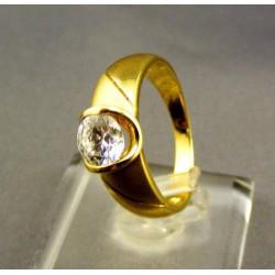 Zlatý dámsky prsteň so zirkónom žlté zlato VP55446Z