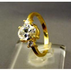 Zlatý dámsky prsteň s bielym zirkónom žlté zlato VP57311Z