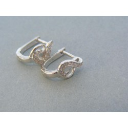 Vzorované strieborné náušnice kamienky DAS301str
