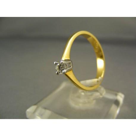 Diamantový prsteň žlté zlato