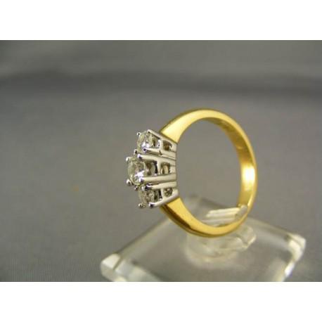 Diamantový prsteň viacfarebné zlato