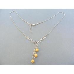 Strieborný dámsky náhrdelník DRS42577