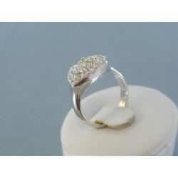 Strieborný prsteň dámsky krištáliky swarovského DPS55565
