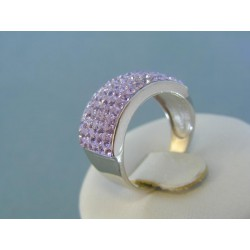 Strieborný prsteň swarovskí DPS56626
