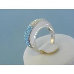 Strieborný dámsky prsteň krištáliky DPS52487