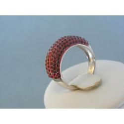 Strieborný prsteň swarovskí DPS545
