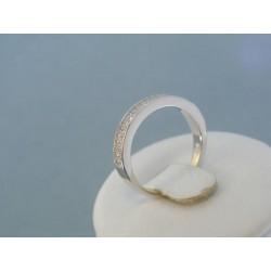Strieborný prsteň dámsky zirkóny DPS53258