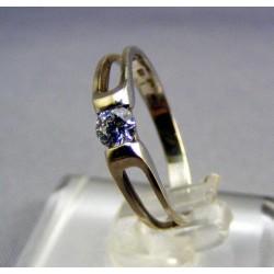 Zlatý prsteň dámsky biele zlato zdobený kamienkom VP48130B