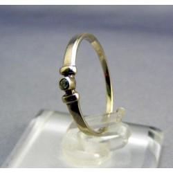 Zlatý dámsky prsteň jednoduchý biele zlato VP51107B