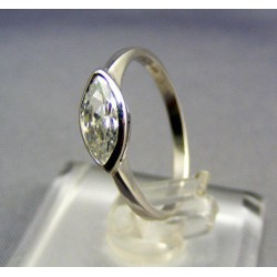 Zlatý prsteň biele zlato zirkón v slzičke VP51152B