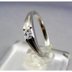 Zlatý dámsky prsteň biele zlato kamienok VP51166B