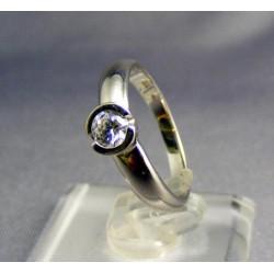 Zlatý prsteň biele zlato, zirkón VP52278B