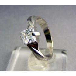 Zlatý dámsky prsteň biele zlato, so zirkónom VP52311B
