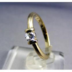Zlatý prsteň biele zlato so zirkónom VP53227B