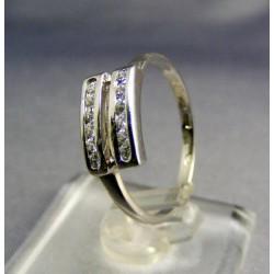Zlatý prsteň biele zlato s kamienkami VP54201B