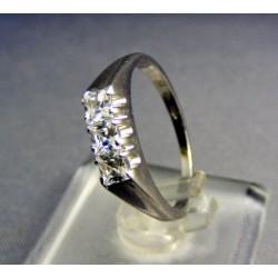 Zlatý dámsky prsteň elegantný biele zlato VP54273B