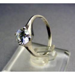 Zlatý prsteň biele zlato zirkón v korunke VP54241B