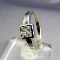 Zlatý prsteň biele zlato so zirkónom VP55271B