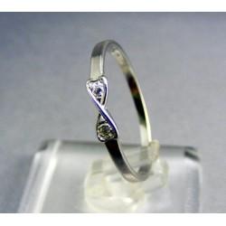 Zlatý prsteň dámsky biele zlato v tvare mašle VP55120B