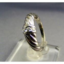 Zlatý prsteň biele zlato točený VP55277B
