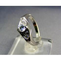 Zlatý prsteň biele zlato s prekrásnym zirkónom VP55427B