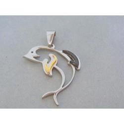 Prívesok delfín ch. oceľ DIO434
