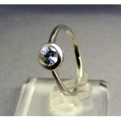 Zlatý prsteň biele zlato zirkón v tvare ovalu VP55168B