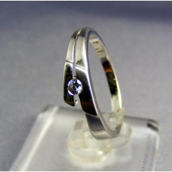 Zlatý prsteň biele zlato so zirkónom VP56198B