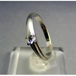 Zlatý prsteň biele zlato zirkón osadený do korunky VP57269B