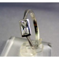 Zlatý prsteň dámsky jednoduchý biele zlato VP56193B