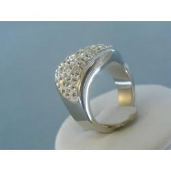 Strieborný prsteň dámsky elegantný swarovskí DPS551039