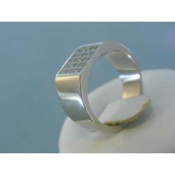 Strieborný prsteň dámsky moderný zirkóny DPS56640