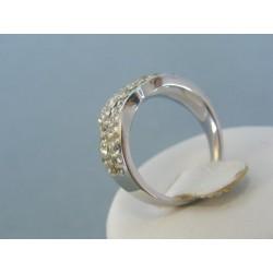 Strieborný prsteň dámsky krištáliky DPS55538
