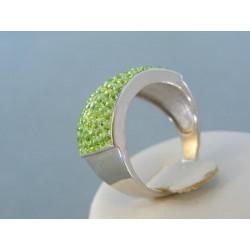 Strieborný prsteň dámsky čarovný swarovskí DPS60684