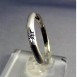 Zlatý prsteň dámsky biele zlato s hviezdou VP58200B