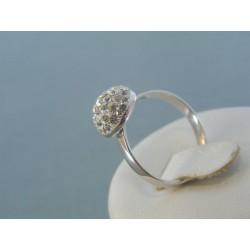 Strieborný prsteň dámsky elegantné krištáliky DPS54202