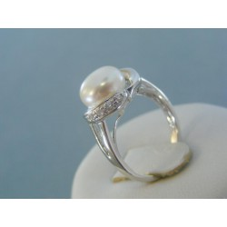 Strieborný prsteň dámsky elegatná perla DPS52347
