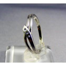 Zlatý prsteň biele zlato so zirkónom VP59168B
