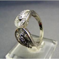 Zlatý prsteň biele zlato so zirkónom VP58546B