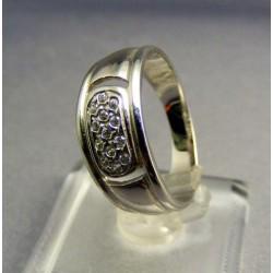 Zlatý prsteň dámsky biele zlato so zirkónmi VP58343B
