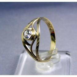 Zlatý prsteň jemný biele zlato zirkónik VP60200B
