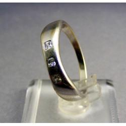 Zlatý prsteň biele zlato so zirkónom biele zlato VP60277B