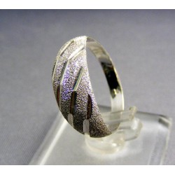 Zlatý prsteň biele zlato gravirovaný biele zlato VP61160B