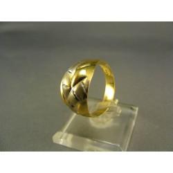 Zlatý dámsky prsteň viacfarebné zlata DP60234V