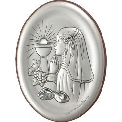 Strieborný obraz dievčatka na sv. prijímani D05.7199.296