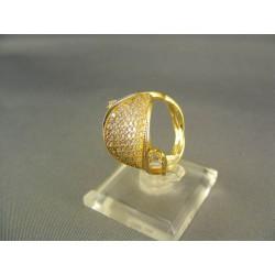 Zlatý dámsky prsteň okuzľujúci žlté zlato DP56444Z