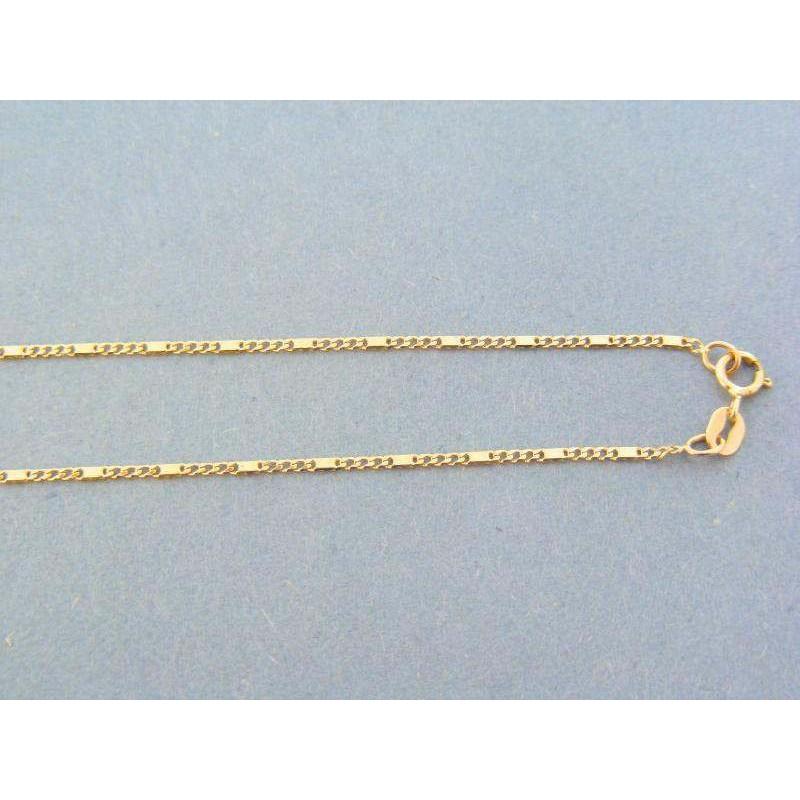 7d7564ead Zlatá retiazka žlté zlato očká platničky DR48205Zzl