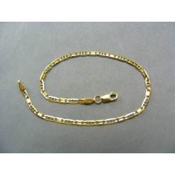 Zlatá náramok tenký žlté zlato striedavo dva očka VN18205