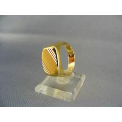 Zlatý pánsky prsteň pečatný žlté zlato DP66581Z