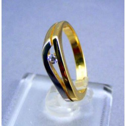 Zlatý dámsky prsteň  viacfarebné zlata VP54292/1V